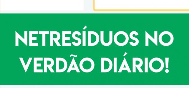 NETResíduos no Jornal Verdão Diário