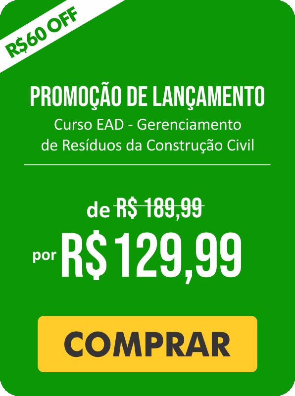 banner com os valores promocionais do curso. De R$ 189,99 por R$ 129,99